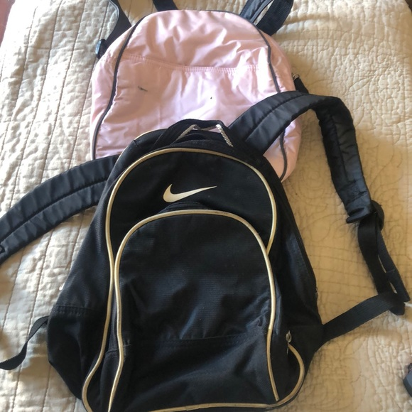 Nike small backpack and small pink backpack lot